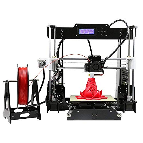 3Idea Anet A8 3D Printer with High Accuracy Self Assembly DIY Kit with PLA Filament 1.75mm White 0.5kg Free