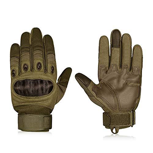 Hakkin Tactical Einsatz-Handschuh, Motorrad Handschuhe Touchscreen Sport Handschuhe für Motorräder Skifahren, Militär, Airsoft,Armygrün 1