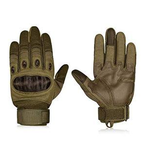 Hakkin Tactical Einsatz-Handschuh, Motorrad Handschuhe Touchscreen Sport Handschuhe für Motorräder Skifahren, Militär, Airsoft,Armygrün 2