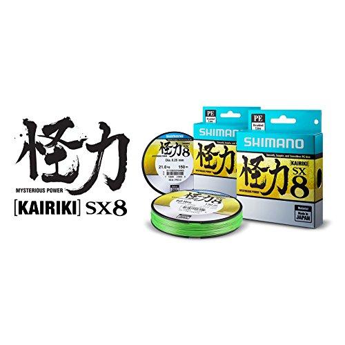 Shimano Kairiki PE 0.18mm MantisGreen 14.0kg,300m geflochtene Schnur