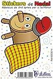 Detalles Infantiles - Adhesivo de vinilo pequeño navidad tió