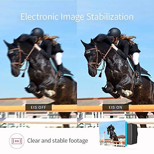 YI 4K+ Cámara de Acción / Deportiva de 4K/60fps de pantalla táctil de 2.2 pulgadas con lente de ángulo amplio (4k+ cam only)