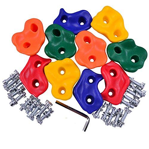 Conjunto de 5 tomas de escalada / asas de plástico para 3-7ans niño con tornillos adecuados 10