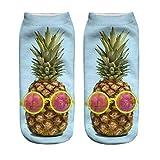 Doormat-bag 3D Print Pineapple Socks Women Casual Socks Unisex Low Cut Ankle Socks