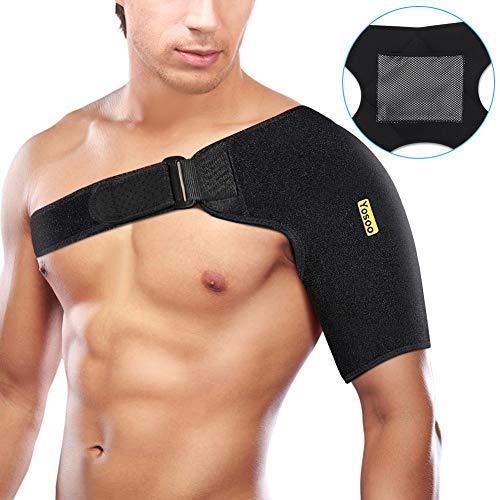 Verstellbare Schulterbandage Neopren Schulterstütze für Verletzungsprävention und Genesung, Schulterstabilität, Gelenkschutz, Damen und Herren, passt sowohl für linke rechte Schulter