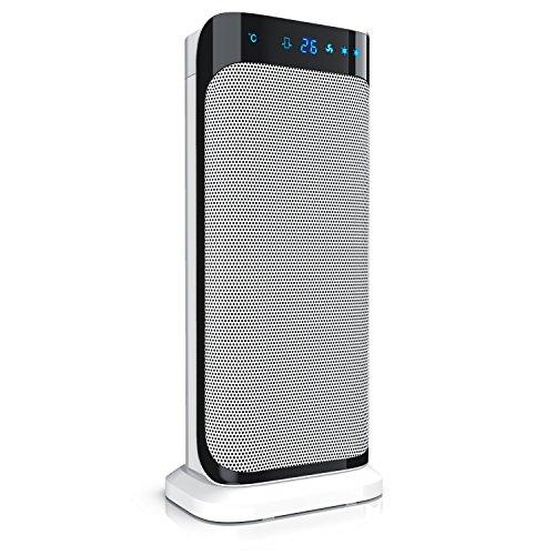 Brandson - radiateur soufflant céramique avec télécommande - appareil de chauffage rapide en céramique avec fonction d'oscillation - 2x niveau de chauffage - temporisateur