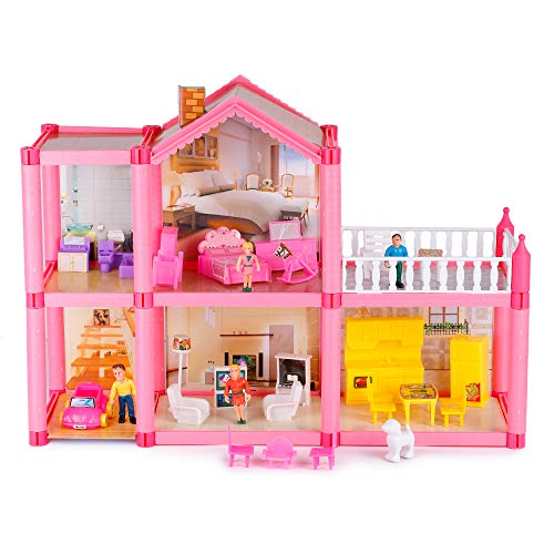 Webby DIY Family Miniature Doll House for Kids(Multicolor)