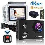 Caméra Sport 4K WiFi, Caméras d'action étanches GULAKI Ultra HD 2.0'...