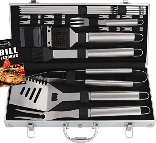 Romanticist 18 PC Kit Barbecue in Acciaio Inox - Kit Barbecue Premium per Uomo Regalo di Compleanno...