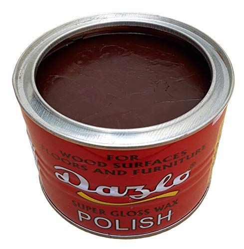 Dazlo Floor & Furniture Super Gloss Wax Polish (400g) - BROWN