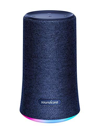 Speaker Portatile con Audio a 360° Soundcore Flare. Altoparlante da Anker, con Suono a Tutto Tondo, Bassi Potenziati e Luce LED Ambientale, Resistenza all'Acqua IPX7.