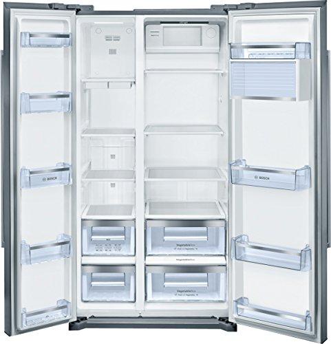 Bosch KAN90VI20 Frigo-Congelatore (Libera installazione, Porta americana, A+, SN, N, ST, T), Acciaio...