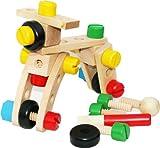 TOWO Juguete de Tuercas y Tornillos - Conjunto de Bloques de construcción con 30 Piezas de Madera para niños - Con hermoso bolso para almacenar - herramientas juguetes - juego de destornilladores