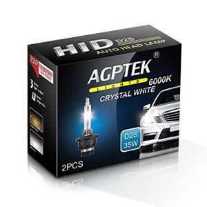 AGPTEK Halogenscheinwerfer Autolampen Ultra Bright 12V/100W, 2 Stücke 2