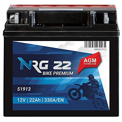 Motorrad Batterie AGM 51913 22Ah 12V 330A/EN Quad Motorradbatterie mit ABS