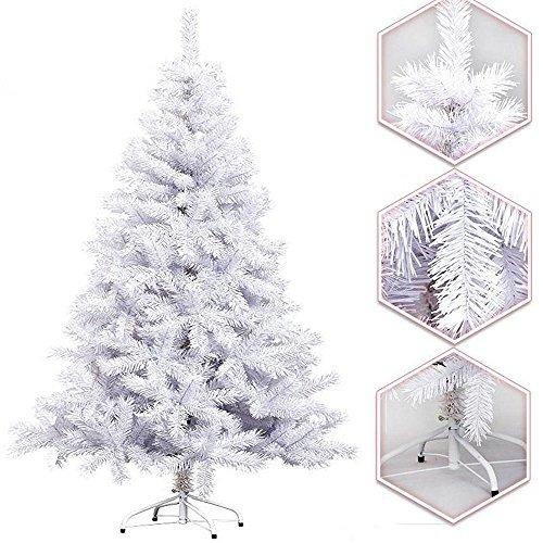 Hengda 180CM Trendy artificiale Albero di Natale BIANCO Abete Albero artificiale abete con base in metallo