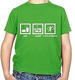 Dressdown Eat Sleep Cyclocross - Childrens/Kids T-Shirt - Irish Green - M (7-8 Years)
