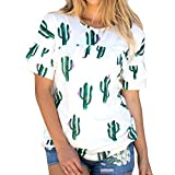 Camiseta Cactus Para Mujer Elegante Y Casual