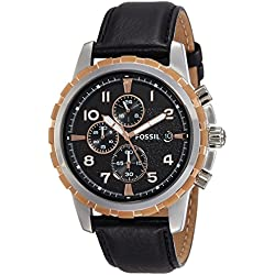 Fossil End of Season Chronograph Black Dial Men's Watch - FS4545