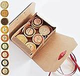 27 Golddublonen Edel Schokolade in 9 Geschmacksvariationen in Geschenk Karton mit roter Schleife, kostenloser Versand