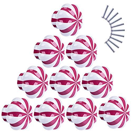 H0_V 10 Pcs Pomello in ceramica,Maniglia della porta della zucca Maniglia del cassetto Maniglia del...