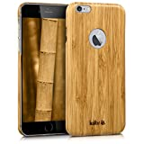 kalibri Funda para Apple iPhone 6 Plus / 6S Plus - Carcasa Trasera [Ultra Delgada] de [bambú] - Cover Protector [marrón Claro]