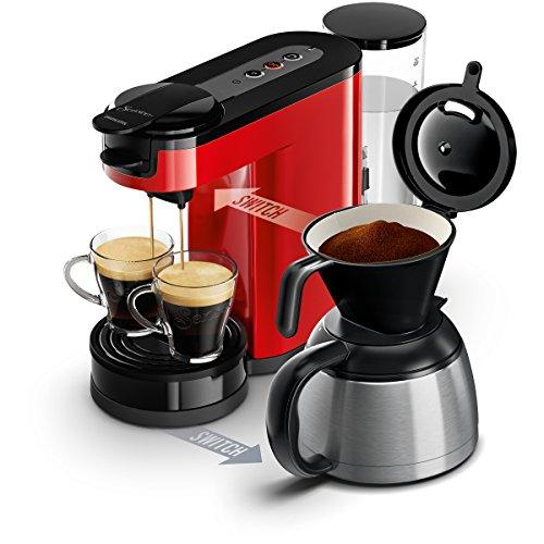 senseo hd7892 80 switch 2 en 1 machine caf pour filtre et dosettes rouge tout pour votre. Black Bedroom Furniture Sets. Home Design Ideas