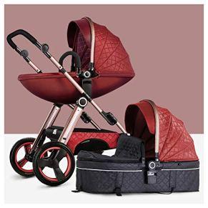 BOROAO Cochecito Puede Sentarse o acostarse Alta Paisaje Combo de Dos vías amortiguadores Cuatro Hijos Carro de bebé…