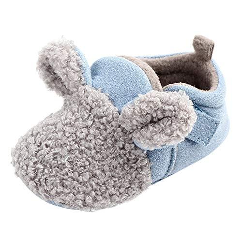 Elecenty Scarpine neonato in cotone Caldi Invernali Animali Peluche Morbidi Scarpe 0~18 mesi