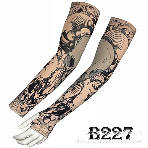tzxdbh Desert Jungle Camouflage Tattoo Manica in Ghiaccio di Alta qualità Real Ice Silk Sunscreen Tattoo Sleeve ha Una Circonferenza del Braccio di Dito di 17-50 cm Disponibile