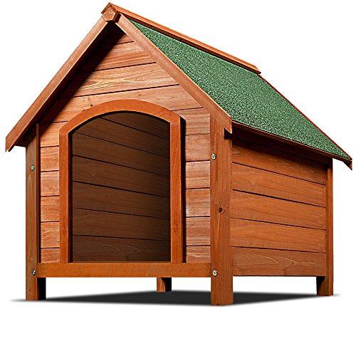 Deuba Cuccia per cane XXL con tetto spiovente apribile 82x72x85cm cani animali animale