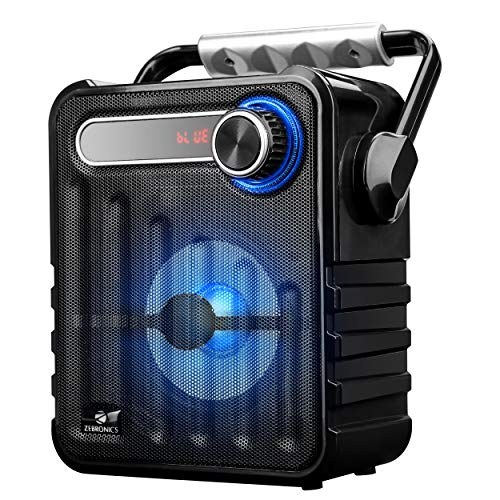 Zebronics Zeb-Buddy Portable BT Speaker with mSD, USB, AUX, FM, LED Display & Carrying Handle.