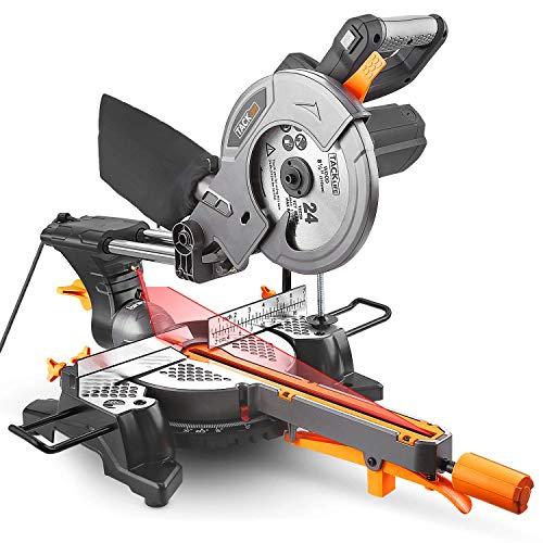 Troncatrice Radiale 1500W Lama Ø 210 TACKLIFE Sega a Trazione con Laser, 4500RPM, Angolo e...