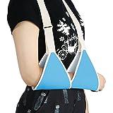 ZJchao Écharpe de bras, Bras de support de coude léger Design ergonomique épaule Sling pour blessures ou Chirurgie entorse Fracture Attelle réglable matelassé pour adulte et enfant, bleu