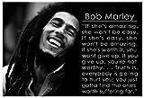 Bob Marley Quotes Wall Poster