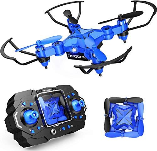 DROCON Mini Drone per Bambini e Principianti, Mini Elicottero quadricottero Pieghevole RC con...