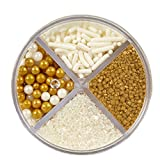 Wilton 710-1260 Gold Pearlized Sprinkles Mix by Wilton Enterprises