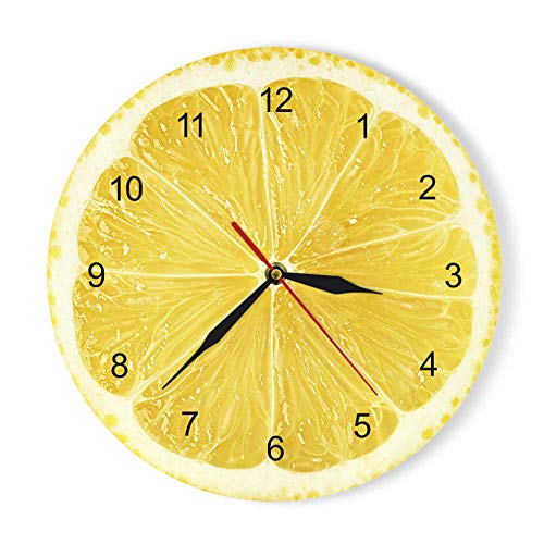 Orologio Da Parete In Acrilico Con Frutti Di Limone Arancione Orologio Da Cucina Moderno Con Pomelo Di Lime Orologio Da Arredamento Per La Casa Orologio Da Parete Con Frutta Tropicale Fresca GZ-1731