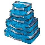 G4Free 3pcs/6pcs/7pcs Packing Cubes Suitcase Organiser Luggage Packing Organiser Value Set for Travel
