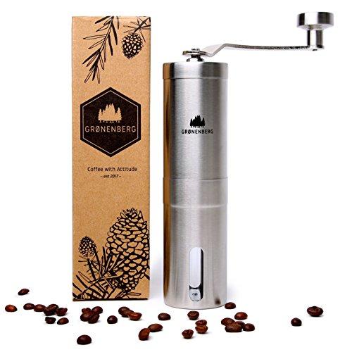 Groenenberg Hand-Kaffeemühle mit Keramik-Mahlwerk Manuelle Kaffeemühle | Espresso-Mühle |...