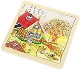 Goki-57684 Puzzles de maderaPuzzles de maderaGOKIPuzzle Las Estaciones, (57684)