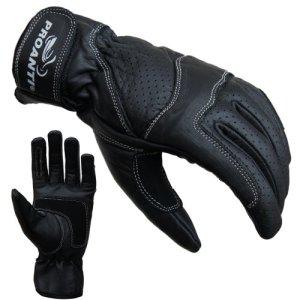 PROANTI Damen Motorradhandschuhe Damen Leder Motorrad Handschuhe Gr. S-L 5