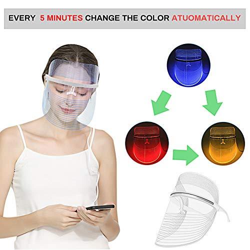 LED masque facial de traitement, Acne traitement Masque, Anti-âge masque, Masque de Luminothérapie LED Photon Therapy, 3 couleurs faciales t... 23