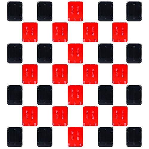 Xinlie Monte Casco Adesivo Montatura Adesiva Adesivo per Cuscinetti Piatto Curvo Adesivo per Casco 3M Adesivo 3M Compatibile con GoPro Hero 6,5,4,Sessione, 3 +, 3, 2, 1 telecamere (32 Pezzi)