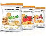 Protein Chips – Eiweiß Fitness Snack Mix Box 6x50g Von Supplify – Whey Proteinpulver und Protein Riegel Ersatz in 3 Geschmäckern – ideal zum Abnehmen oder als Muskelaufbau Booster