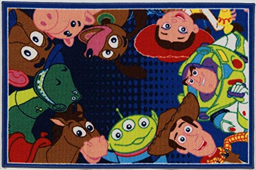 ABC Disney A.L. Toy Story Ts06 Tappeto cameretta, Multicolor, 80 x 120 cm