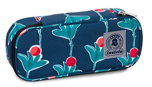 Bustina Round Plus Invicta Twist , FANTASY , Blu e Arancione , Scomparto attrezzato per penne, round...