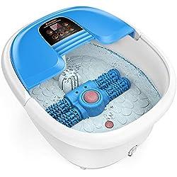 Masajeador spa para pies AREALER Hidromasaje para pies con rodillos automáticos de masaje + Control de temperatura por Infrarrojo+ Masaje con burbujas, perfecto para aliviar el estrés de pies