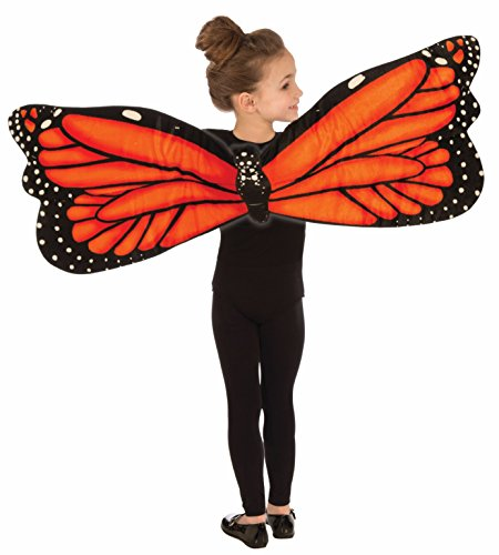 Forum Plush Butterfly Child Wings Costume, Orange