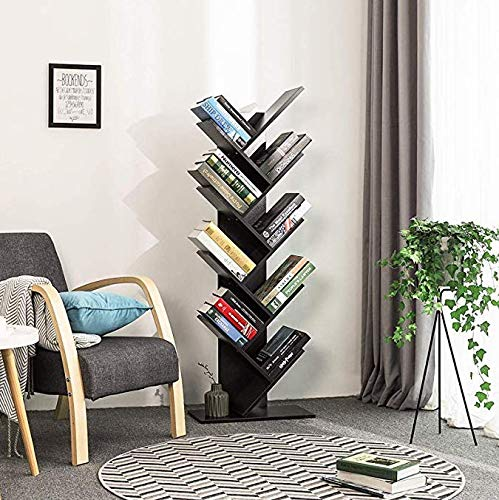 Urbancart Tree Bookshelf/Bookrack Organizer for Books/CDs/Albums/Files Holder in Living Room Home & Office.(9 Tier) (Assembly Required)